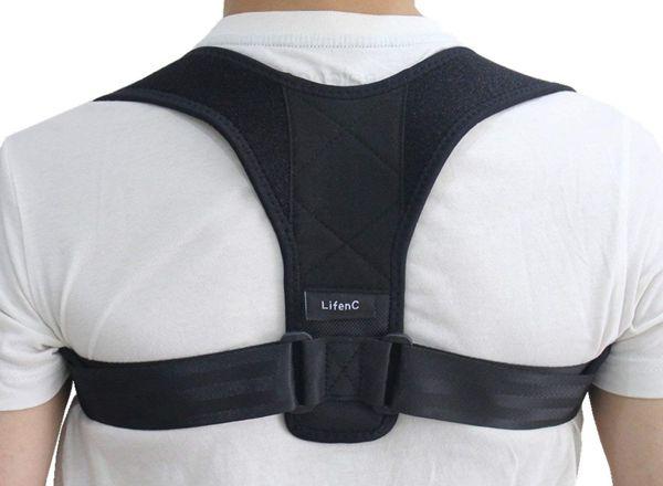correttore posturale alle spalle
